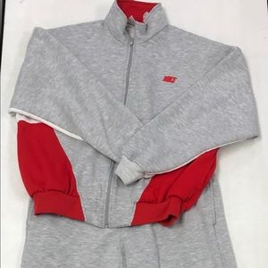 Vintage Nike Track Suit Pants Jacket Xl Red White